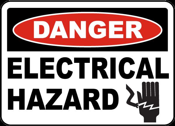 Elecrical Hazard Sign